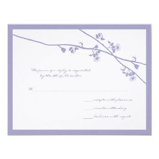 """La flor salvaje de la lavanda ramifica casando invitación 4.25"""" x 5.5"""""""