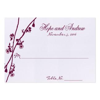 La flor salvaje del ciruelo ramifica casando Place Plantilla De Tarjeta Personal