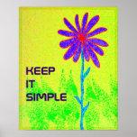 La flor salvaje lo guarda poster simple