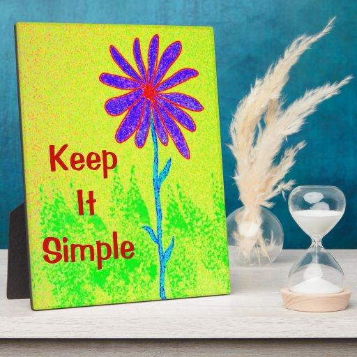 La flor salvaje lo mantiene simple placas para mostrar