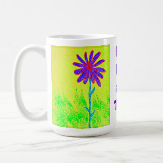 La flor salvaje un día a la vez asalta taza