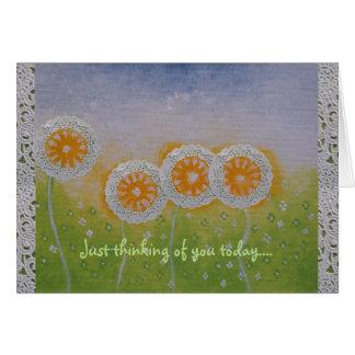 La flor se descolora pensando en usted tarjeta