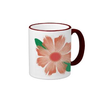 La flor se descolora taza de la escritura - flor y