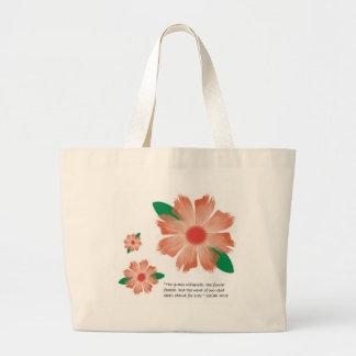 La flor se descolora tote bolsa tela grande