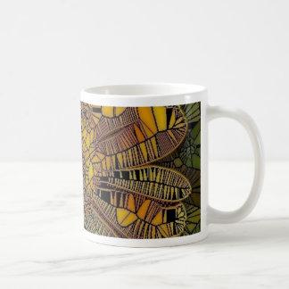 la flor tiene gusto del mosaico de cristal amarill tazas