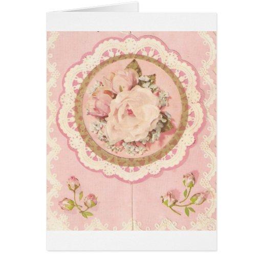 la flor vieja tarjeta de felicitación