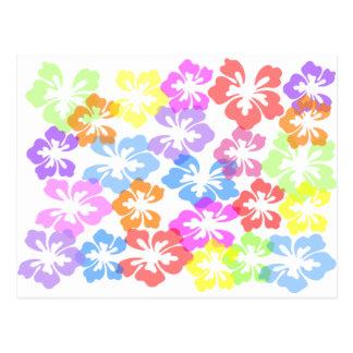 la flor waxpunch-hi4 florece hibis libres rosados  postal