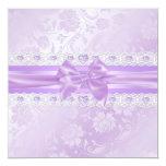 La flor y el dulce púrpuras 16 del arco invitan comunicado