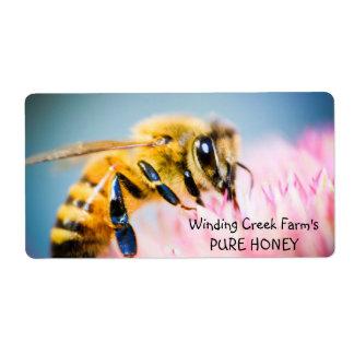 La flor y la abeja personalizaron la etiqueta de l etiqueta de envío