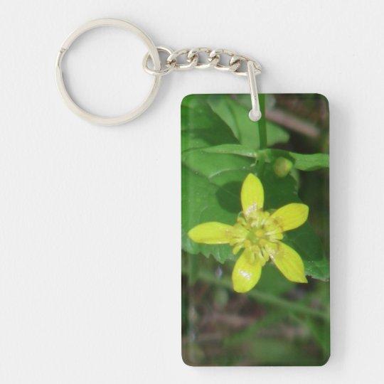 La flora de Kooskooskia Idaho florece el Llavero Rectangular Acrílico A Una Cara