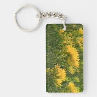 La flora de Slough de la presa del castor florece  Llavero Rectangular Acrílico A Una Cara