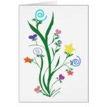 La floración protagoniza la tarjeta de nota en bla