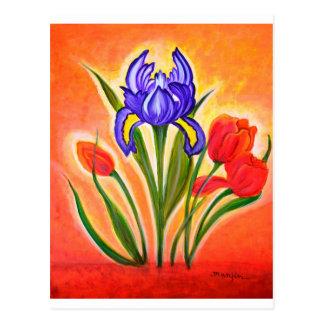 La floración tarjeta postal