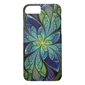 La floral abstracto Chanteuse IV del vitral Funda iPhone 7
