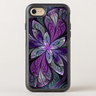 La floral abstracto púrpura Chanteuse del vitral Funda OtterBox Symmetry Para iPhone 7