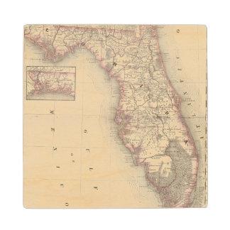 La Florida 10 Posavasos De Madera