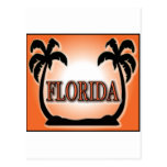 La Florida Airbrushed las palmeras anaranjadas de  Postal