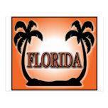 La Florida Airbrushed las palmeras anaranjadas de  Postales