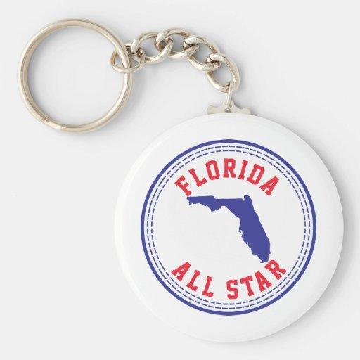 La Florida All Star Llavero Redondo Tipo Pin
