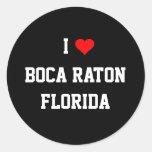 LA FLORIDA: Amo Boca Raton, la Florida Pegatina Redonda