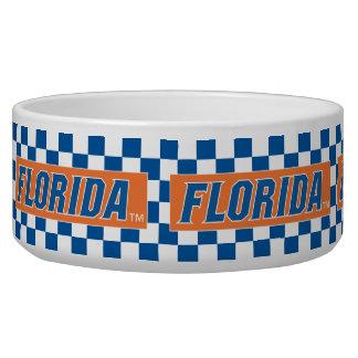 La Florida - azul y blanco Bol Para Perro