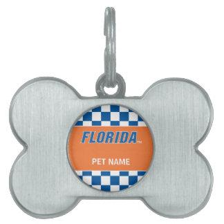 La Florida - azul y blanco Placas De Mascota