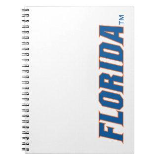 La Florida - azul y naranja Libro De Apuntes Con Espiral