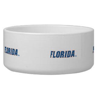 La Florida - azul y naranja Tazones Para Perrros