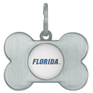 La Florida - azul y naranja Placa De Mascota