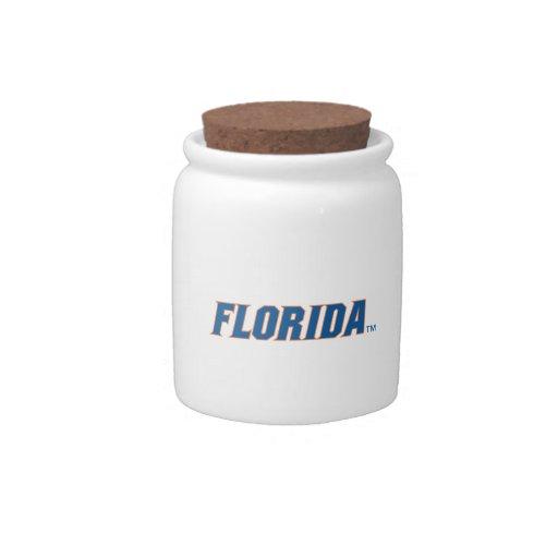 La Florida - azul y naranja Platos Para Caramelos
