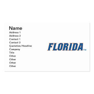 La Florida - azul y naranja Tarjeta De Visita