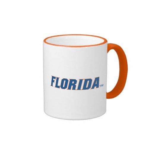 La Florida - azul y naranja Taza De Café
