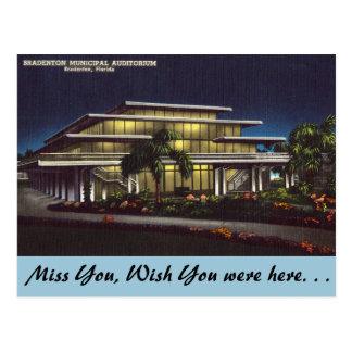 La Florida, Bardenton, auditorio municipal Tarjetas Postales