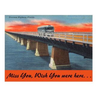 La Florida, carretera de ultramar Tarjetas Postales