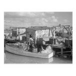 La Florida cierra la pesca, 1938 Postal