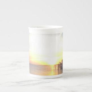 La Florida cierra la taza de la puesta del sol Taza De Porcelana