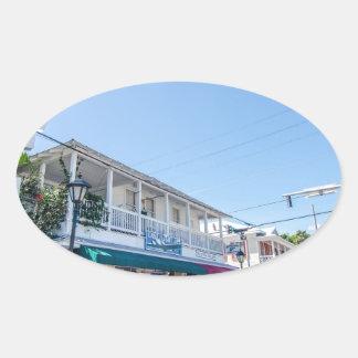 la Florida cierra las calles muy transitadas Pegatina Ovalada