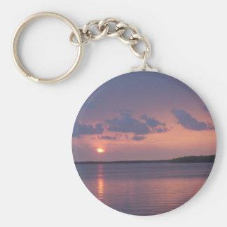 La Florida cierra puesta del sol Llavero Redondo Tipo Pin