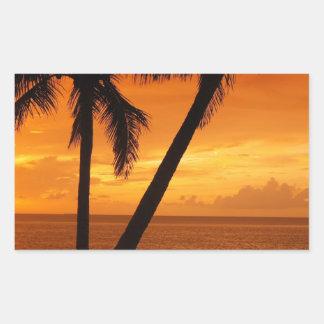 La Florida cierra puesta del sol Pegatina Rectangular
