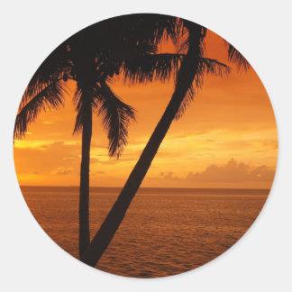 La Florida cierra puesta del sol Pegatina Redonda