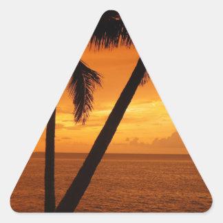 La Florida cierra puesta del sol Pegatina Triangular