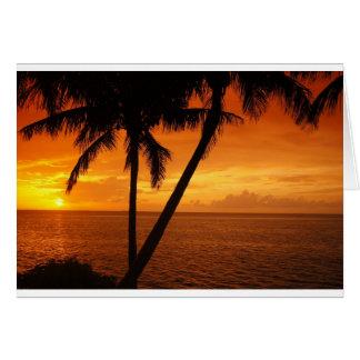 La Florida cierra puesta del sol Tarjeta De Felicitación