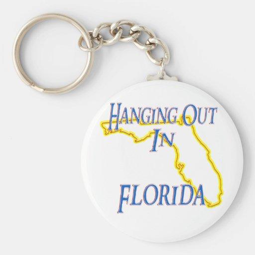 La Florida - colgando hacia fuera Llaveros Personalizados