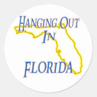 La Florida - colgando hacia fuera Etiquetas Redondas