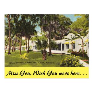 La Florida, colina del acebo, casa de campo real Tarjeta Postal