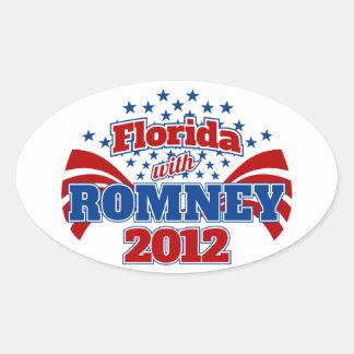La Florida con Romney 2012 Calcomanía De Ovaladas