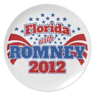La Florida con Romney 2012 Platos De Comidas