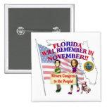 ¡La Florida - congreso de vuelta a la gente! Pins