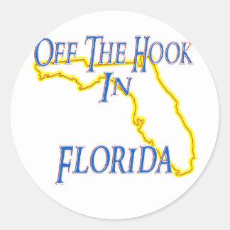 La Florida - del gancho Pegatina Redonda