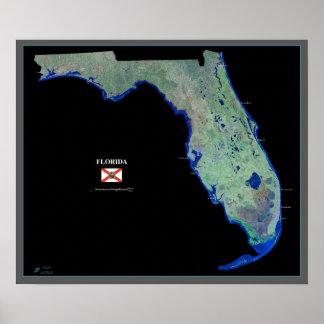 La Florida del poster del satélite del espacio